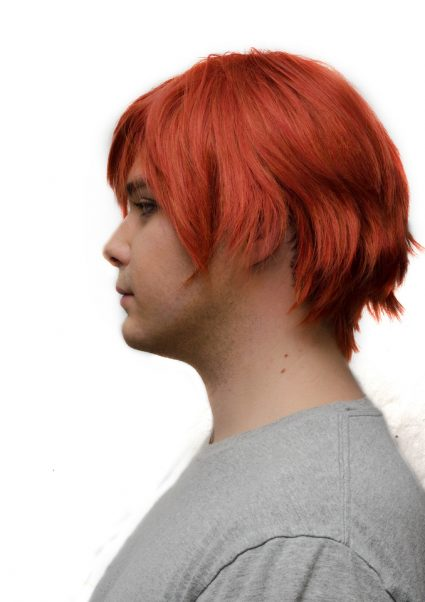 Gaara cosplay wig side view