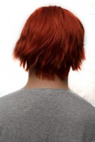 Gaara cosplay wig back view
