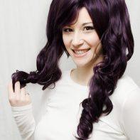 dark purple lolita cosplay wig