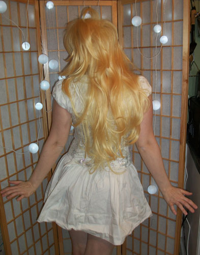 Panty cosplay wig back view