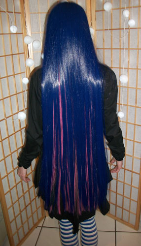 Stocking cosplay wig back view