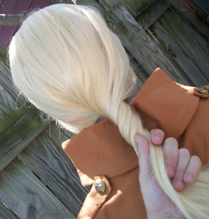 Annie step 1 - gently twist base wig
