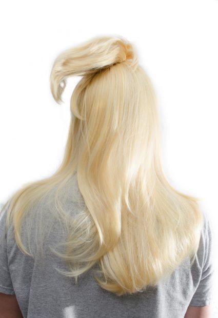 Deidara cosplay wig back view