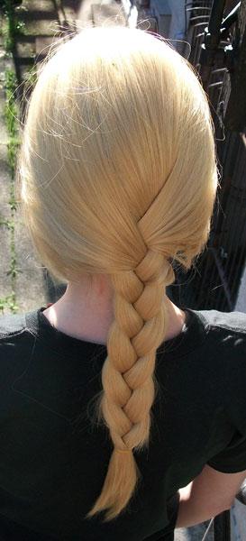 Edward Elric cosplay wig - back