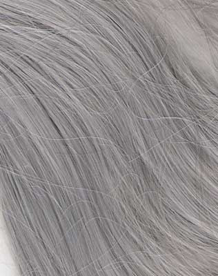 Silver wig swatch
