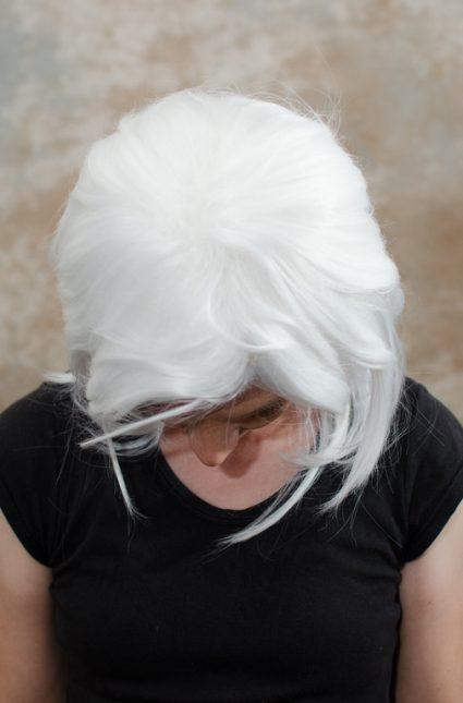 Bakura cosplay wig top view