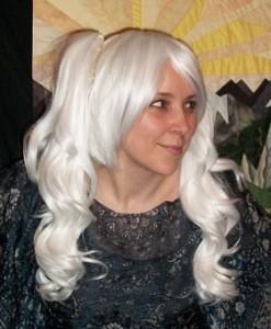 White lolita cosplay wig