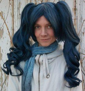 Deep blue lolita cosplay wig
