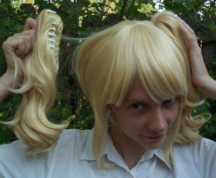 Blonde lolita cosplay wig clip