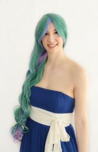 Celestia cosplay wig