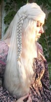 Daenerys cosplay wig side view