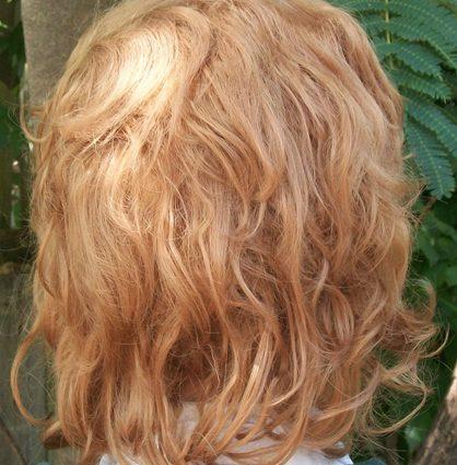 Blonde hobbit cosplay wig back view