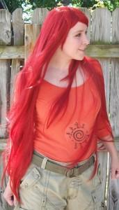 Kushina cosplay wig
