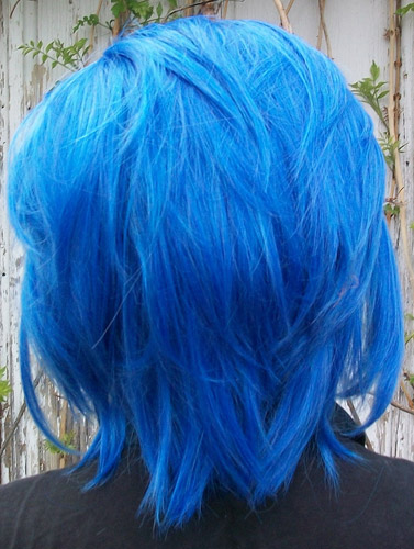 Levy Mcgarden cosplay wig back view
