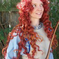 Merida cosplay wig