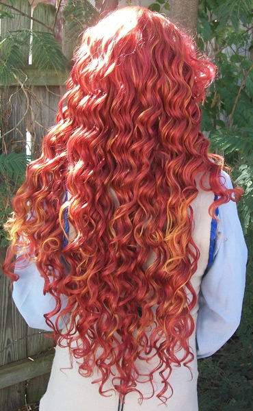 Merida cosplay wig back view & Brave Bear Princess Fate - Merida cosplay wig - The Five Wits