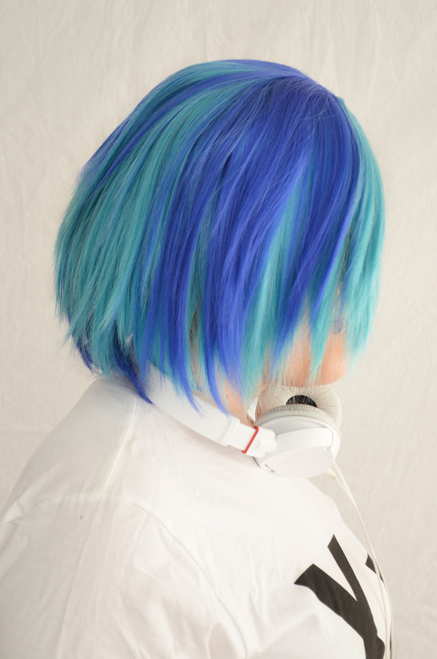 Spinning Vinyl Wub Pwn Dj Pon 3 Cosplay Wig The Five Wits