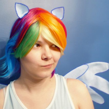 Rainbow Dash customer photo, by facebook.com/shrewsie