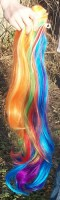 Rainbow Dash wig ponytail