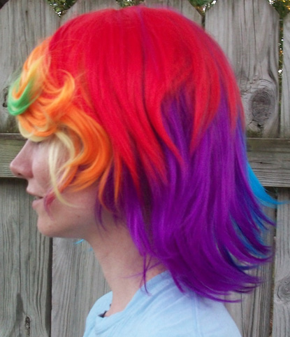 Rainbow Dash wig side view