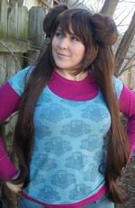 Pokemon Rosa cosplay wig