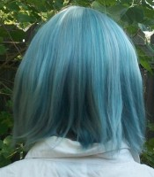 Sayaka cosplay wig back view