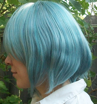 Sayaka cosplay wig side view