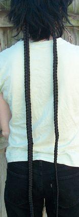 Meenah braid clip back view