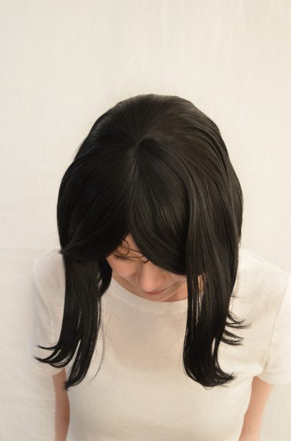 Terezi cosplay wig top view