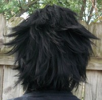 Zack Fair cosplay wig back view