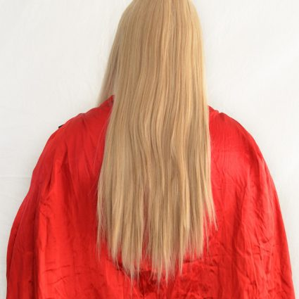 Thor cosplay wig back view