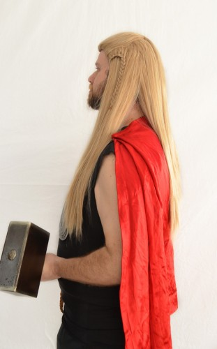 Thor cosplay wig side view