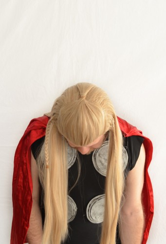 Thor cosplay wig top view