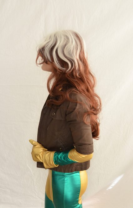 Rogue cosplay wig side view