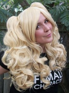 Blonde gothic lolita cosplay wig