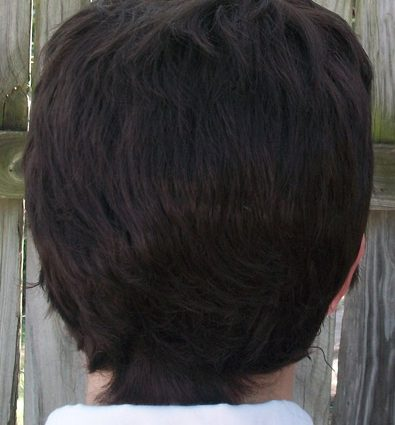 Castiel cosplay wig back view
