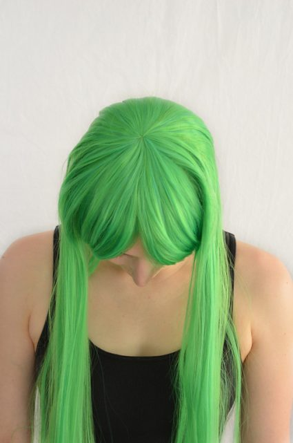 CC cosplay wig top view