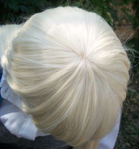 Chii cosplay wig top view