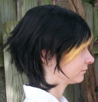 Clock cosplay wig side view