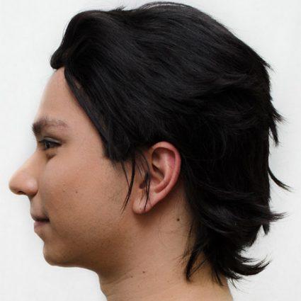 Cronus Ampora cosplay wig side view