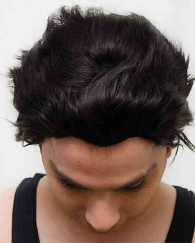 Cronus Ampora cosplay wig top view