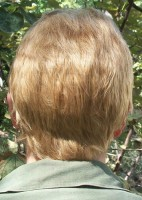 Dean Winchester cosplay wig back view