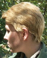 Dean Winchester cosplay wig side view