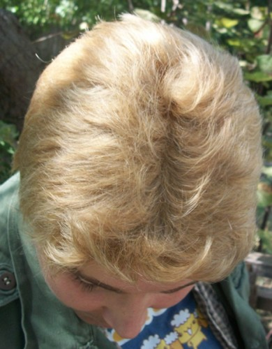 Dean Winchester cosplay wig top view