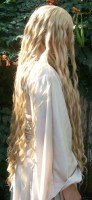 Galadriel cosplay wig side view