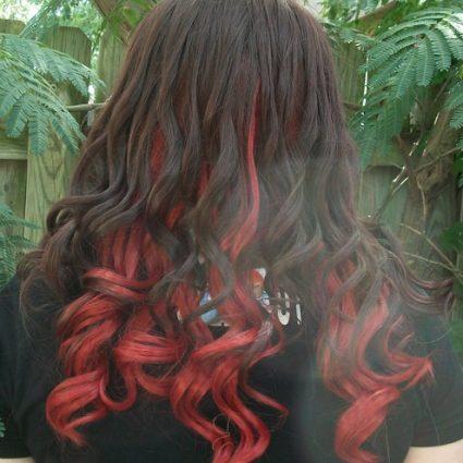 Gamora cosplay wig back view