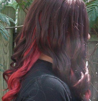 Gamora cosplay wig side view