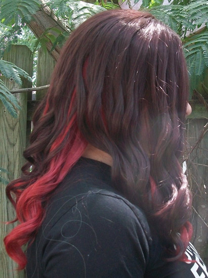 Gamora cosplay wig side view