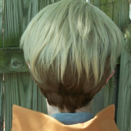 Jean Kirstein cosplay wig back view