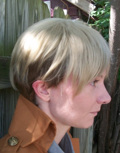 Jean Kirstein cosplay wig side view